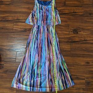Robert Louis women's XL rainbow long dress